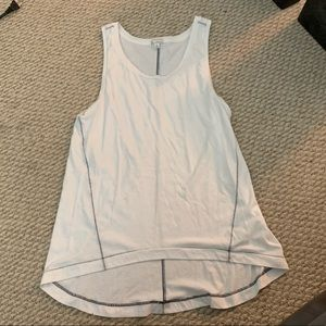 High-low tank with contrast stitching
